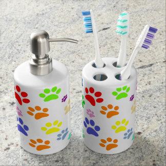 Schattige Pret en het Kleurrijke Patroon van de Tandenborstelhouder