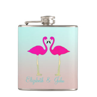 Schattige Roze Flamingo's in Heupfles