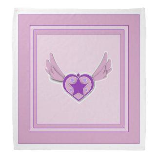 Schattige Roze Vleugels en Hart Bandana