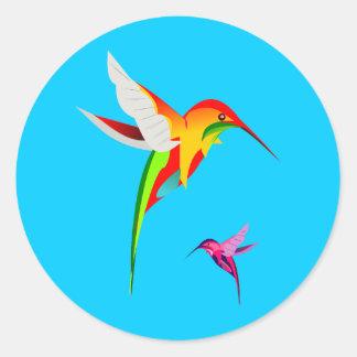 Schattige Vliegende Kolibries Ronde Stickers