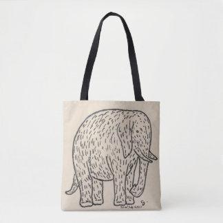 Schattige zo leuk zwart-witte olifant! draagtas