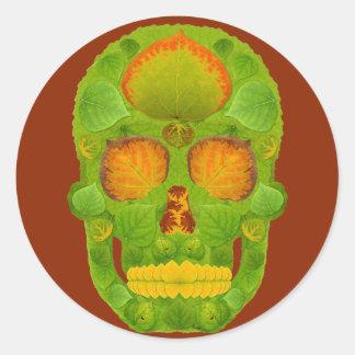 Schedel 10 van het Blad van de esp Ronde Sticker