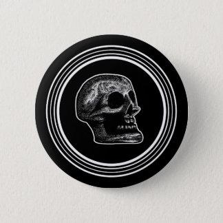 SCHEDEL - de Zwarte & het Wit van de Cirkel Ronde Button 5,7 Cm