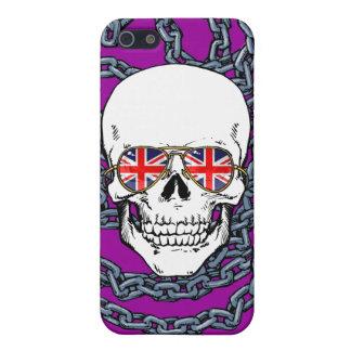 Schedel die de zonnebril van Union Jack met iPhone 5 Covers