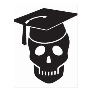 schedel die van school een diploma wordt behaald briefkaart