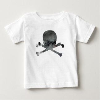 Schedel en bot baby t shirts