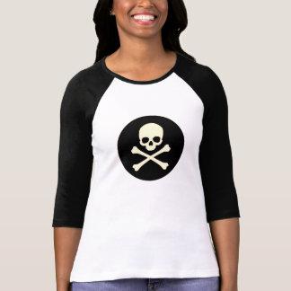 Schedel en Bot T Shirt