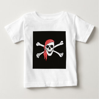 Schedel en de Gekruiste Vlag van de Piraat van het Baby T Shirts