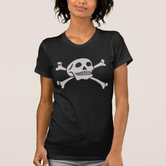 Schedel en de T-shirt van Gekruiste knekels