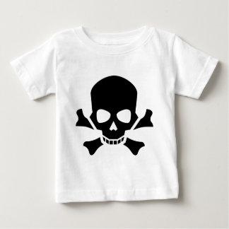 Schedel en Gekruiste knekels Baby T Shirts