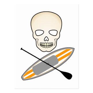 Schedel en Paddleboard Briefkaart