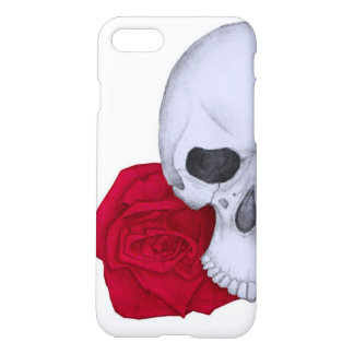 Schedel en Rode Rozen iPhone 8/7 Hoesje