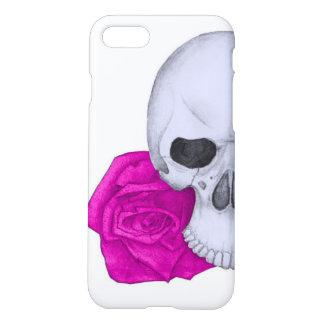 Schedel en Roze Rozen iPhone 8/7 Hoesje