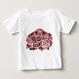 Schedel en Rozen Baby T Shirts