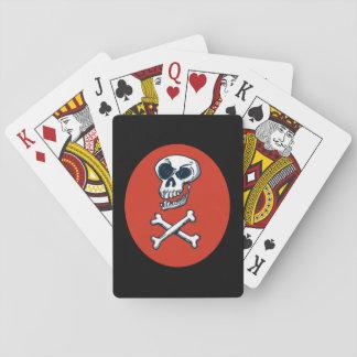 schedel en van de botcartoon stijlillustratie speelkaarten