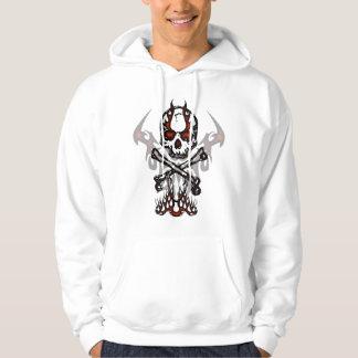 Schedel en vlammen hoodie