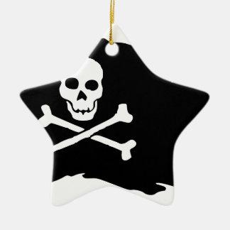 Schedel Keramisch Ster Ornament