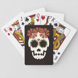 Schedel met de Speelkaarten van Bloemen