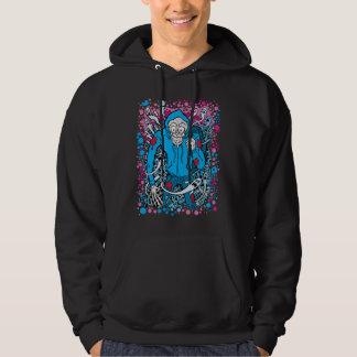 Schedel met een kap hoodie