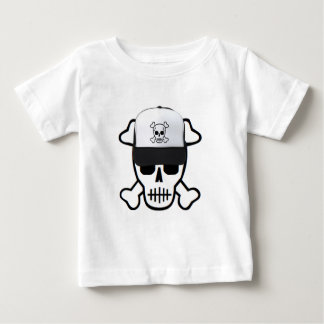 Schedel met het Pet van de Schedel Baby T Shirts