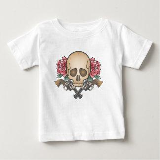 schedel met vintage pistolen en bloemen baby t shirts