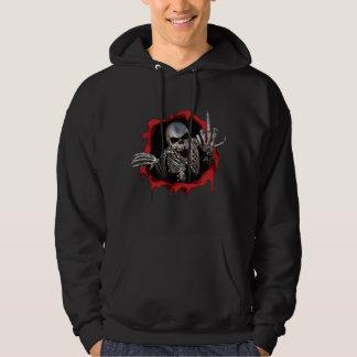 schedel middelvinger hoodie
