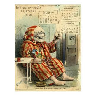 Schedel /Skeleton Vintage Farmaceutische Illus. Briefkaart