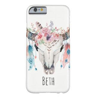 Schedel van de Koe van Boho de Boheemse & de Barely There iPhone 6 Hoesje