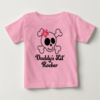 Schedel van de Meisjes van de Tuimelschakelaar van Baby T Shirts