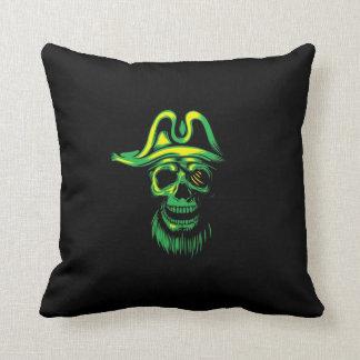 Schedel van de Piraat van het neon de Groene Sierkussen