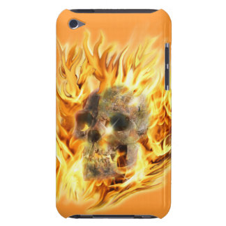 Schedel & Vurige Vlammen iPod Touch Hoesje