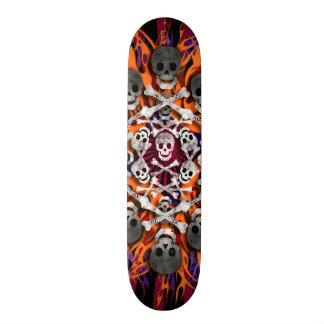 schedels en vlammen 20,0 cm skateboard deck