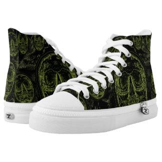 SCHEDELS - Zwarte/Groene Collage High Top Schoenen