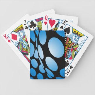 Scheefgetrokken Blauw Stip op Zwarte Poker Kaarten