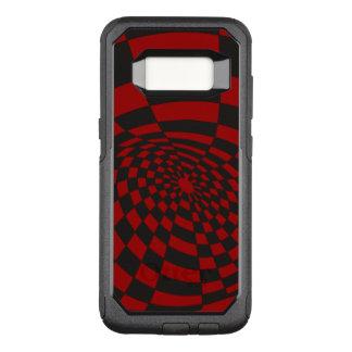 Scheefgetrokken Karmozijnrood Schaakbord OtterBox Commuter Samsung Galaxy S8 Hoesje