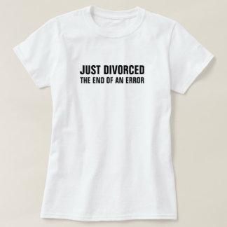 Scheidde enkel het Eind van een Fout T Shirt