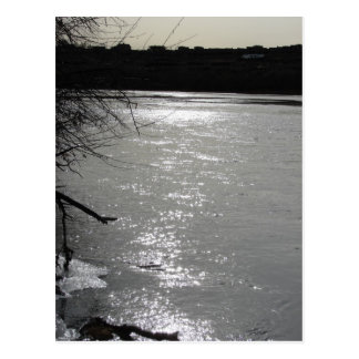 Schemer bij het Rio Grande Briefkaart