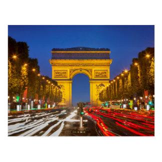 Schemering langs Champs Elysee Briefkaart