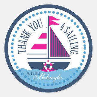 Schepen Ahoy! De Sticker A van het meisje