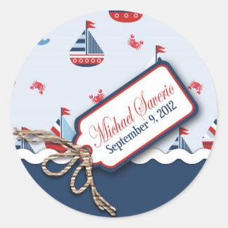 Schepen Ahoy! Doopsel Sticker_Michael Saverio 2 Ronde Sticker