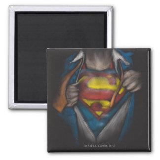 Schets 2 van de Borst van de superman Vierkante Magneet