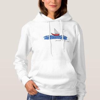 Schets Hoodie van de Zeemeeuw van de Boot van het