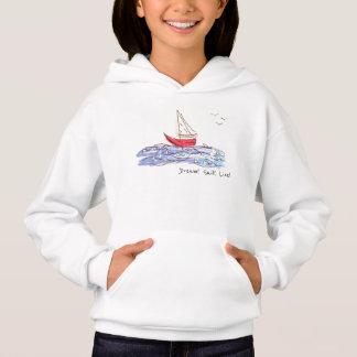 Schets Hoodie van de Zeemeeuwen van de Boot van
