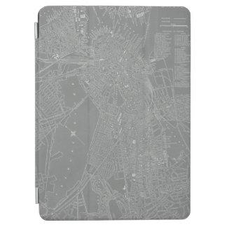 Schets van de Kaart van de Stad van Boston iPad Air Cover