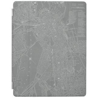 Schets van de Kaart van de Stad van Boston iPad Cover