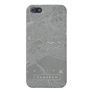 Schets van de Kaart van de Stad van Boston iPhone 5 Cases