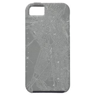 Schets van de Kaart van de Stad van Boston Tough iPhone 5 Hoesje