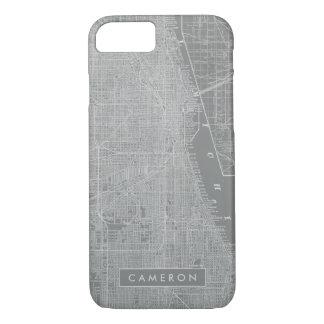 Schets van de Kaart van de Stad van Chicago iPhone 8/7 Hoesje