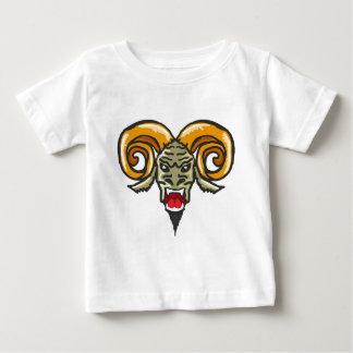 Schets van het Dier van de Satan de Gehoornde Baby T Shirts