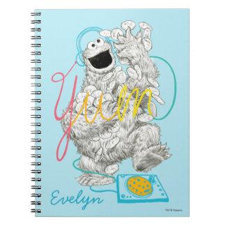 Schets | van het Monster B&W van het koekje voegt Ringband Notitieboek